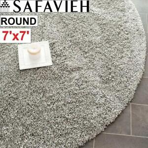 NEW SAFAVIEH 7 ROUND AREA RUG SG151-7575-7R 244420154 SHAG SILVER CARPET FLOORING DECOR ACCENTS MAT