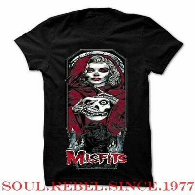 Marlins Rocks - MISFITS  PUNK ROCK ALTERNATIVE MARLIN MONROE   MEN'S SIZES  T SHIRT