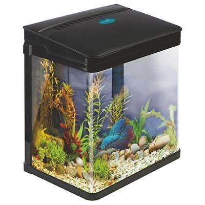 Small starter aquarium fish tank coldwater tropical led for Small tropical fish tank