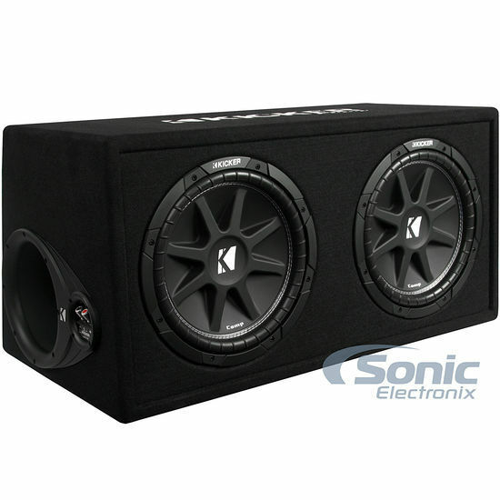 "KICKER 43DC122 Comp Audio Dual 2-Ohm 12"" Subwoofers In Vented Sub Box Enclosure"