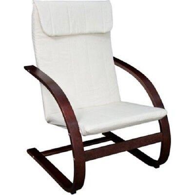 Lounge Recliner Chair Cushion Pillow High Back Walnut Seat
