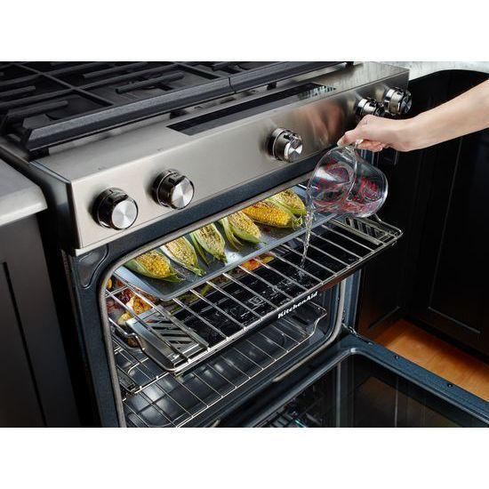 Kitchenaid Gas Stoves kitchenaid 30 inch range steam reservoir oven rack w10686408 | ebay