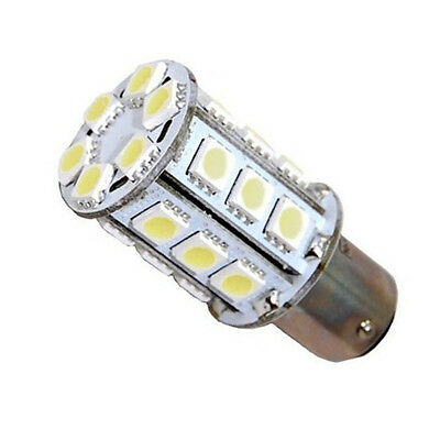 Electrical Light Bulb Double Contact (Navigation and Anchor Light Ba15d 24LEDs Dual Contact SMD LED Bulb Warm White )