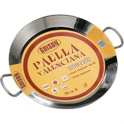 Paellera Valenciana de acero inoxidable Guison 40cm induccion paella sarten