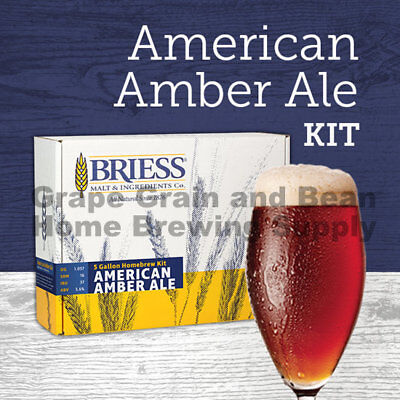 BRIESS Better Brewing American Amber 5 Gallon Homebrew Recipe & Ingredient (Best Homebrew Recipe Kits)
