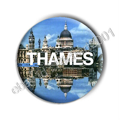 BUTTON BADGE PIN - CLASSIC TV 'THAMES' Logo