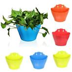 Wall-mounted Multicolor Plastic Flower Pot Garden Balcony...