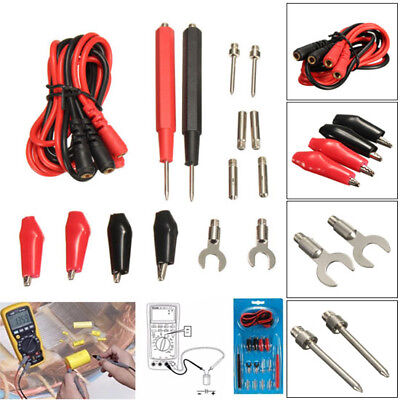1set16pcs Multifunction Digital Multimeter Probe Test Lead Cable Alligator Clip