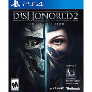 Dishonored 2 Limited Edition Ps4 game, New in Plastic.