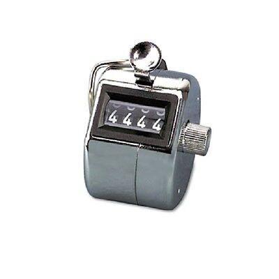 12 Qty GBC Tally I AVT9841000 Hand Model Tally Counter, Registers 0-9999, Chro