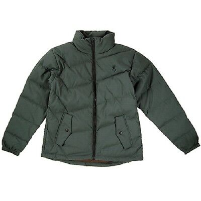 Browning Ladies Womens Goose Down Jacket High Country Forest Green Large L New