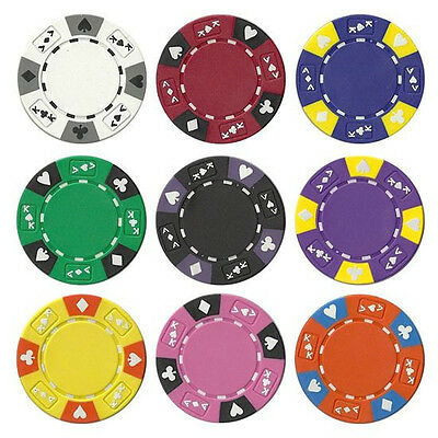 Ace King Poker Chips - NEW 1000 PC Ace King 14 Gram Suited Clay Poker Chips Bulk Lot Select Your Colors