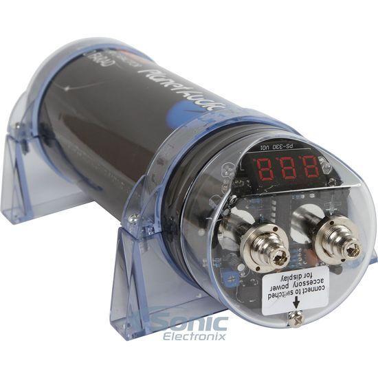 NEW! Planet Audio PCBLK2.0 2 Farad Car Digital Capacitor Audio Cap LED | PCBLK20