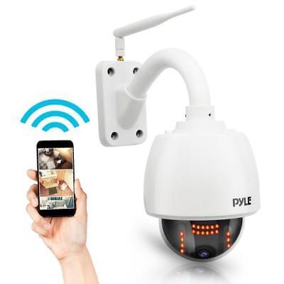Pyle PIPCAMHD47 Weatherproof HD Hi-Res IP Camera - Outdoor WiFi Security Cam