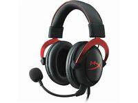 HyperX Cloud 2 Gaming Headset (Brand New Ear cups) & Aluminium Desk Headphone Stand