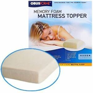 "OBUSFORME 6"" TWIN MEMORY FOAM MATTRESS TOPPER"