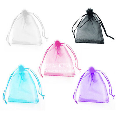 Organza Wedding Gift Bags (New 100pcs Organza Wedding Party Favor Bags Decor Jewelry Candy Gift Pouches )