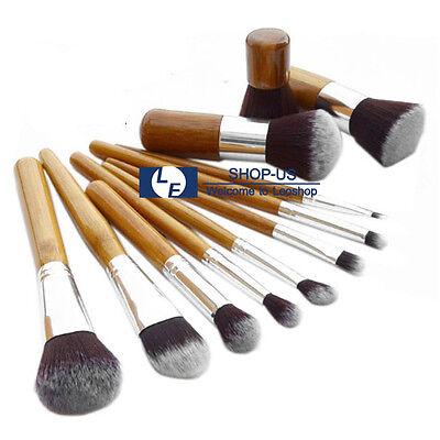 New 11Pcs Cosmetic Makeup Brushes Kit Set Powder Foundation Eyeshadow Brush Tool