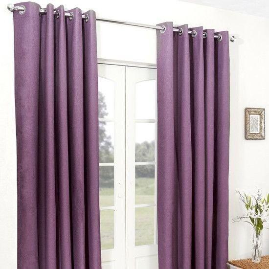 Dunelm Aubergine Purple Curtains