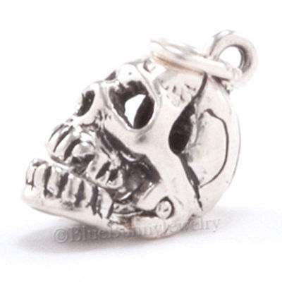 SKELETON SKULL Halloween Medical Pendant Charm 3D Moveable  925 Sterling Silver