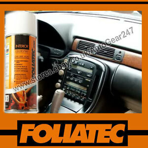 foliatec car interior dashboard door plastic vinyl flat black spray paint 400ml ebay. Black Bedroom Furniture Sets. Home Design Ideas