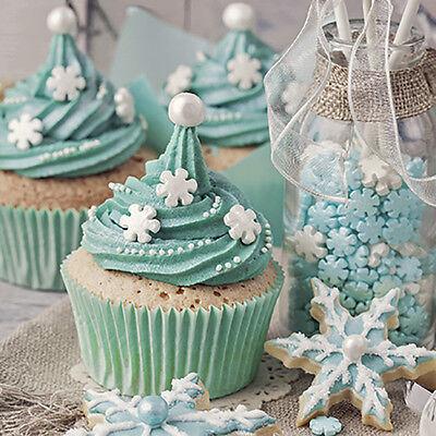Christmas 20 Paper Lunch Napkins MINT X-MAS Festive Serviettes Cupcake Cookies