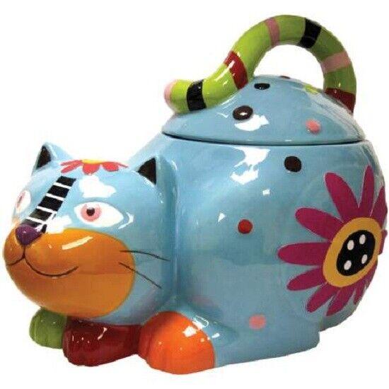 Cozy Critters Cat Ceramic Cookie Jar