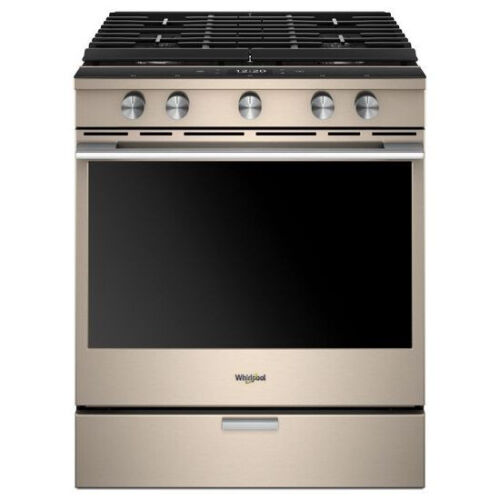 Whirlpool 5.8 Cu. Ft. Self-Cleaning Slide-In Gas Convection Range Sunset bronze WEGA25H0HN