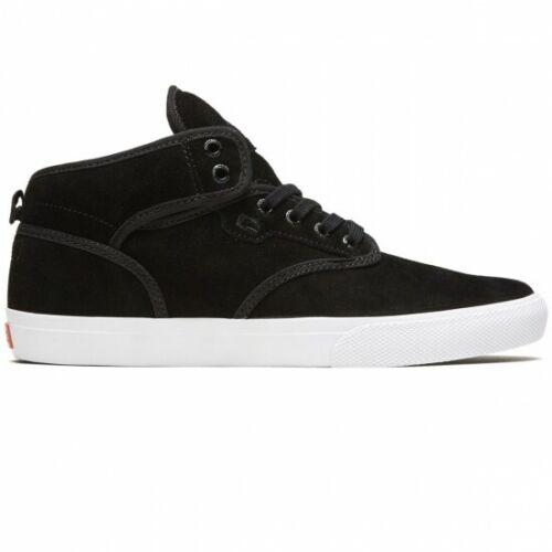 Globe Motley Mid Skate Shoes - Black Suede/White