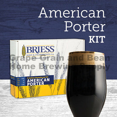 BRIESS Better Brewing American Porter 5 Gallon Homebrew Recipe & Ingredient (Best Homebrew Recipe Kits)