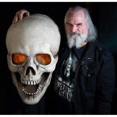 PREORDER =HALLOWEEN GIANT FLICKERING LITE SKULL HAUNTED HOUSE HORROR PROP DECOR - Giant Skull Halloween