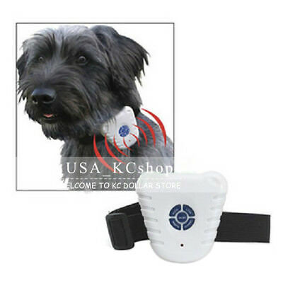 New Small Ultrasonic Pet Dog Training Anti No Bark Barking Shock Control Collar