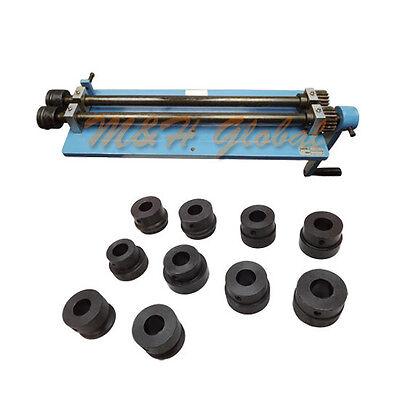 Bead Roller Rotary 6 Dies Set Machine Clamp Bench Vise Steel Sheet Metal Rolling
