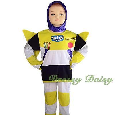 Buzz Lightyear Hero Fancy Theme Halloween Party Costume Kid Size 2 3 4 5 6