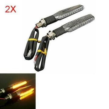 4st Motorcycle LED Turn Signal Indicator Blinkers Amber L...