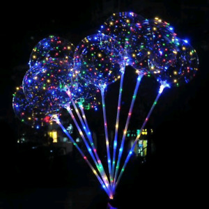 Luminous LED Balloons with pole stick for Parties