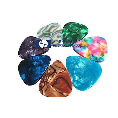 New 10PCS Guitar Picks Celluloid Thin Acoustic Electric Plectrums Assorted Color