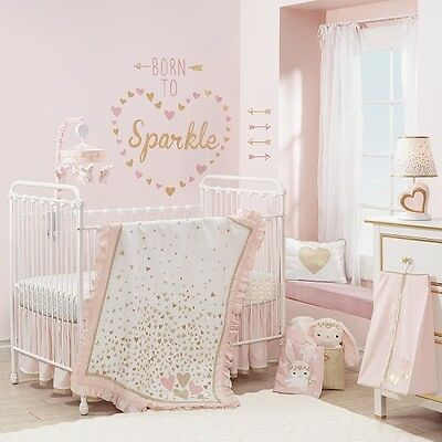 Lambs & Ivy Confetti 6 Piece Baby Crib Bedding Set w/ Bumper & Mobile NEW