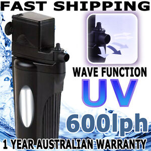 Biopro Aquarium Fish Tank Internal Water Pond UV Filter Wave Maker Pump 600lph