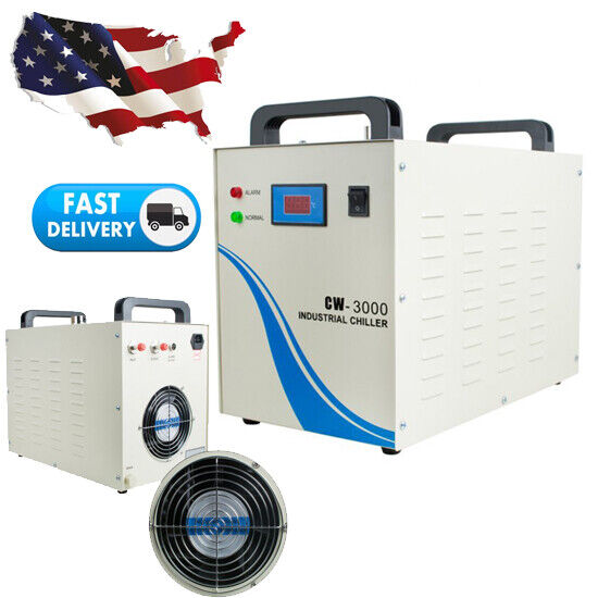 Industrial Water Chiller CW3000 for CNC Laser Engraver Engraving Machine 10L/min