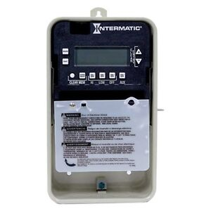 intermatic pe103 digital seasonal timer for swimming pool spa pump 1 or 2 speed