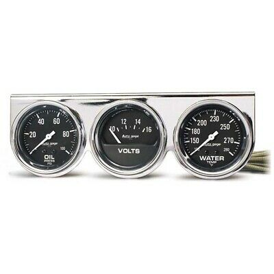 AutoMeter 2399 Auto Gage 3 Gauge Console, Oil/Volt/Water