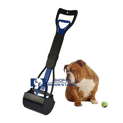 New Pet Dog Pooper Scooper Clean Pick Up Shovel Handle Easy Poop Scoop Removal