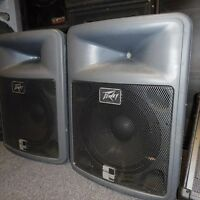 PA speakers for sale DJ / PA / Band   powered and passive