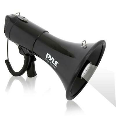 Pyle Megaphone Pa Bullhorn Siren Alarm Adjustable Volume Led Lights