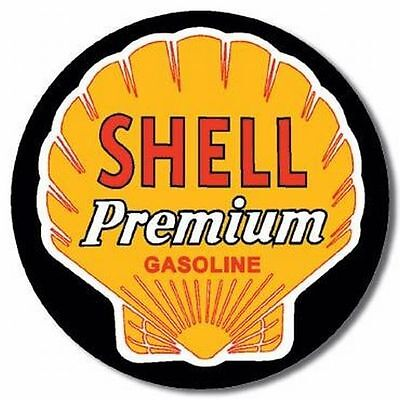 """Vintage SHELL Premium Gasoline 4"""" Vinyl Decal Sticker"""