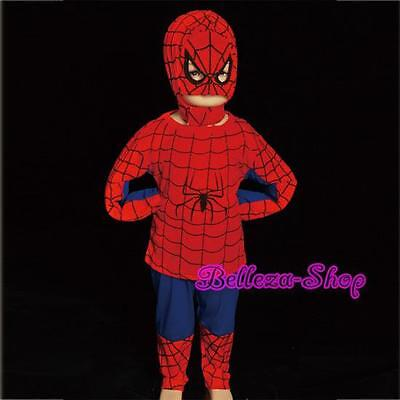Superhero Spiderman Kid Cosplay Costume Outfit HALLOWEEN Party Size 3T-4T - 3t Spiderman Costume