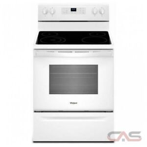 Whirlpool Glass Top Electric Range - White