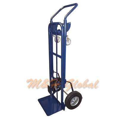 Heavy Duty 2 In 1 Appliance Hand Truck Dolly 4 Wheels Cart Moving Mobile Lift