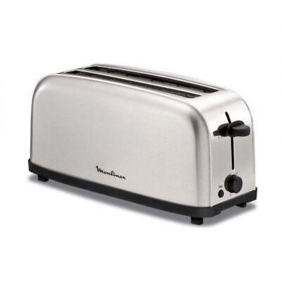 Tostadora Moulinex LS330D11 2R Larga acero inoxidable 1400W tostador tostada pan